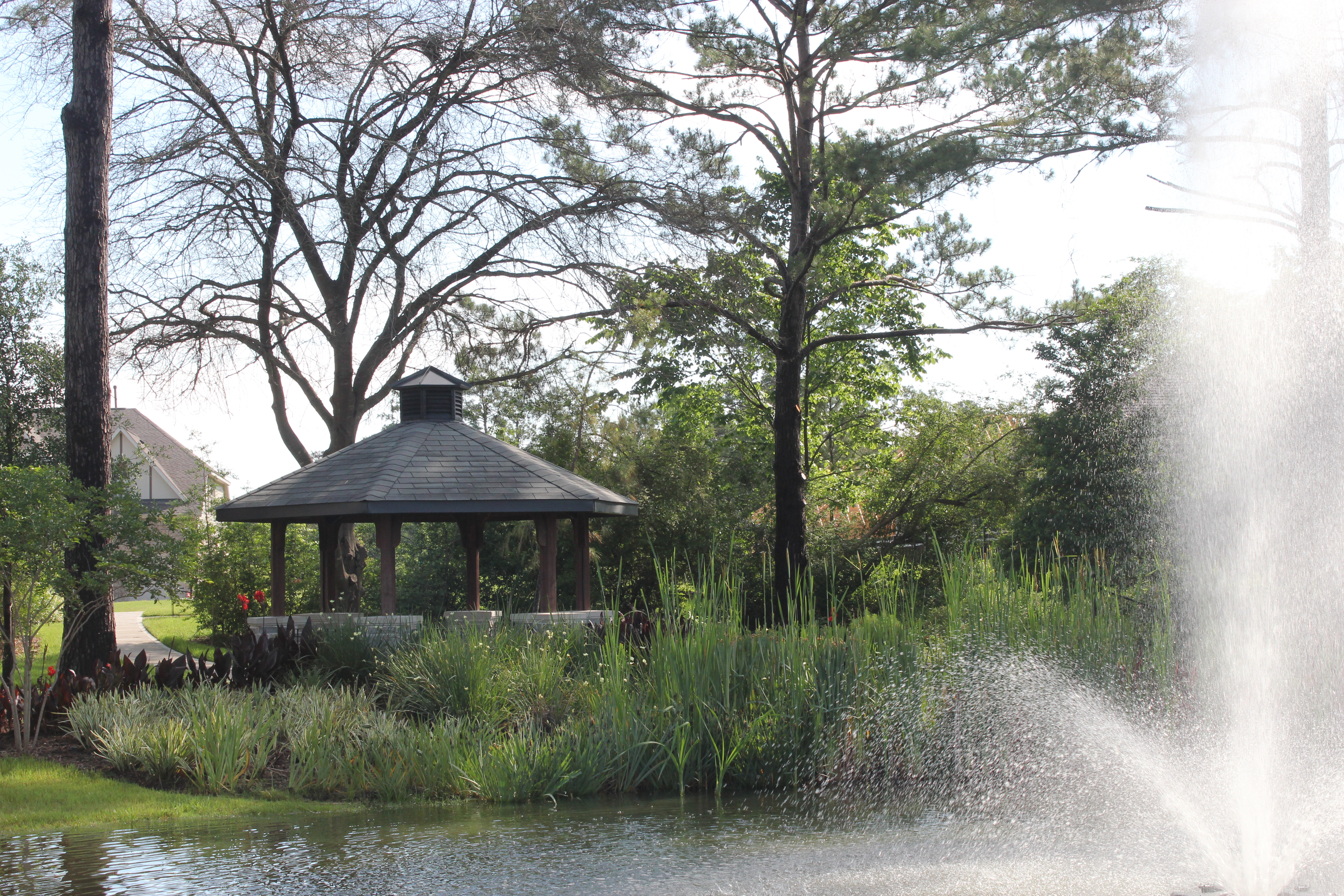 Pretty Pond and Covered Gazebo at The Enclave thumbnail