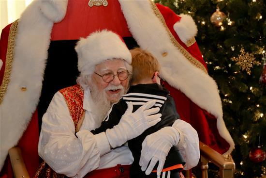 Who doesn't like hugs from Santa! thumbnail