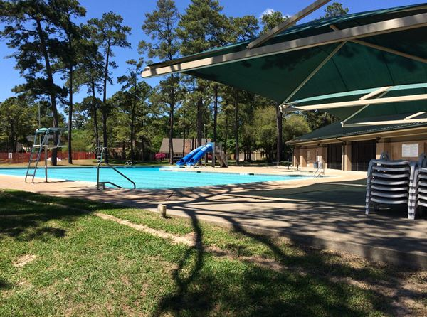 East Pool: Our East Pool is a multipurpose amenity that is utilized for general recreation, Cypresswood Sharks swim team events, and party rentals. thumbnail