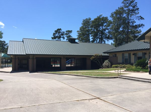 East Clubhouse & Pavilion: The adjoining pavilion adds a few thousand additional square feet of covered recreational space, utilized for everything from swim meets to Zumba classes. thumbnail